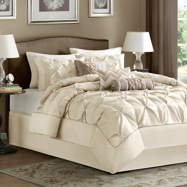 Madison Park Laurel 7 Piece Comforter Set Ivory