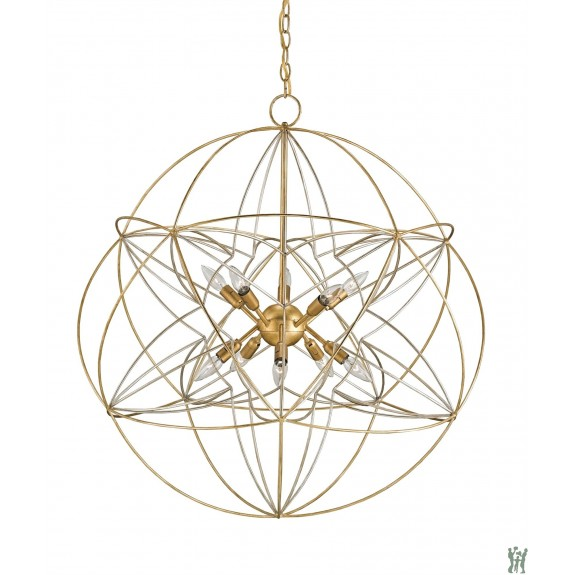 lighting currey and company zenda orb chandelier candelabra