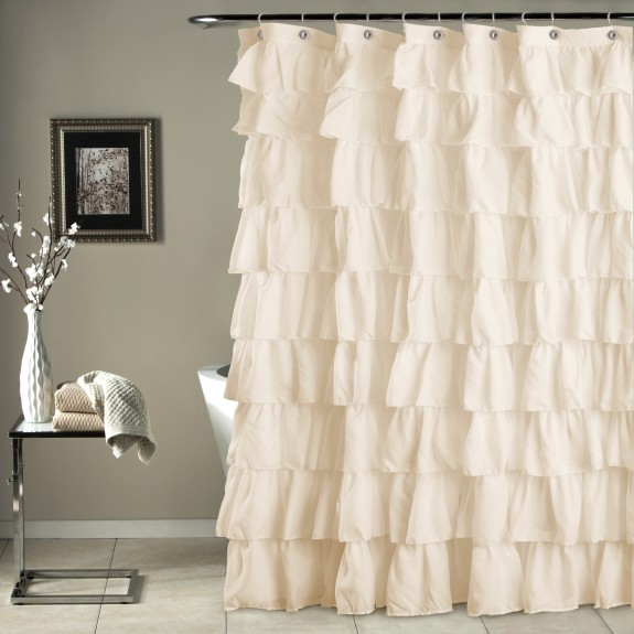 ruffle shower curtain ivory gifts for you and me