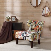 Erika Hourglass Tufted Armless Chair