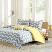 Nadia 4 Piece Coverlet Set - Yellow