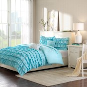 Waterfall Comforter Set - Blue