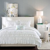 Waterfall Comforter Set - White