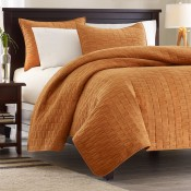 Hampton Hill Velvet Touch Coverlet - Cinnamon