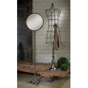Industrial Body Form & Antiqued Floor Mirror