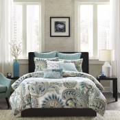 Mira 3 Piece Comforter Mini Set - Blue