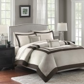MADISON PARK HOTEL 200TC 5 PIECE COTTON DUVET COVER SET
