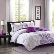 Intelligent Design Avani Comforter Set - Purple