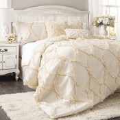 Avon 3-pc Ivory Comforter Set King