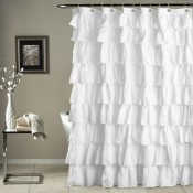 Ruffle Shower Curtain White