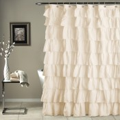 Ruffle Shower Curtain Ivory