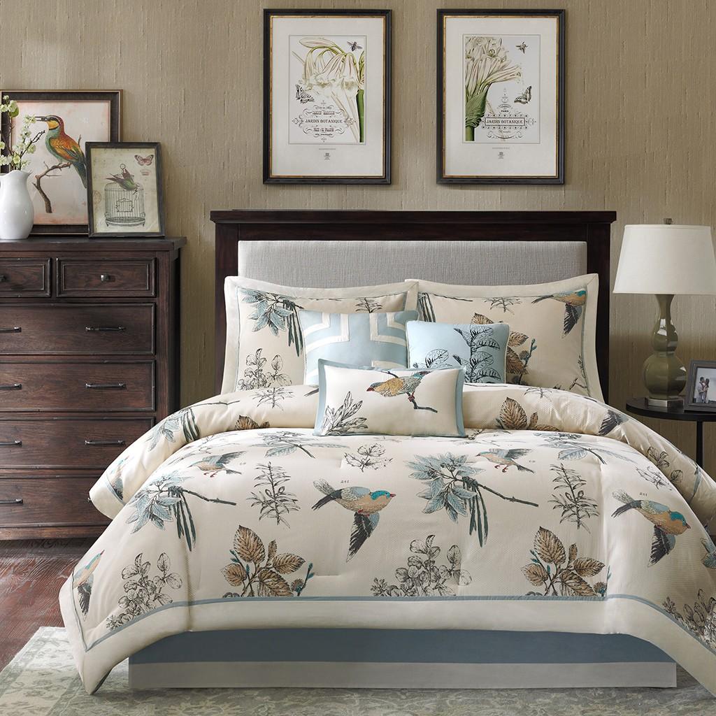 Madison Park Quincy 7 Piece Comforter Set - khaki