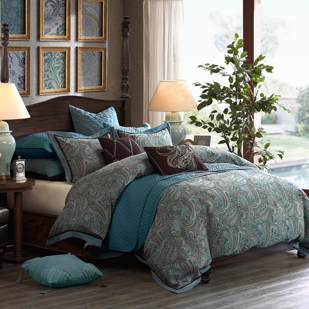 Hampton Hill Lauren Comforter Set Blue